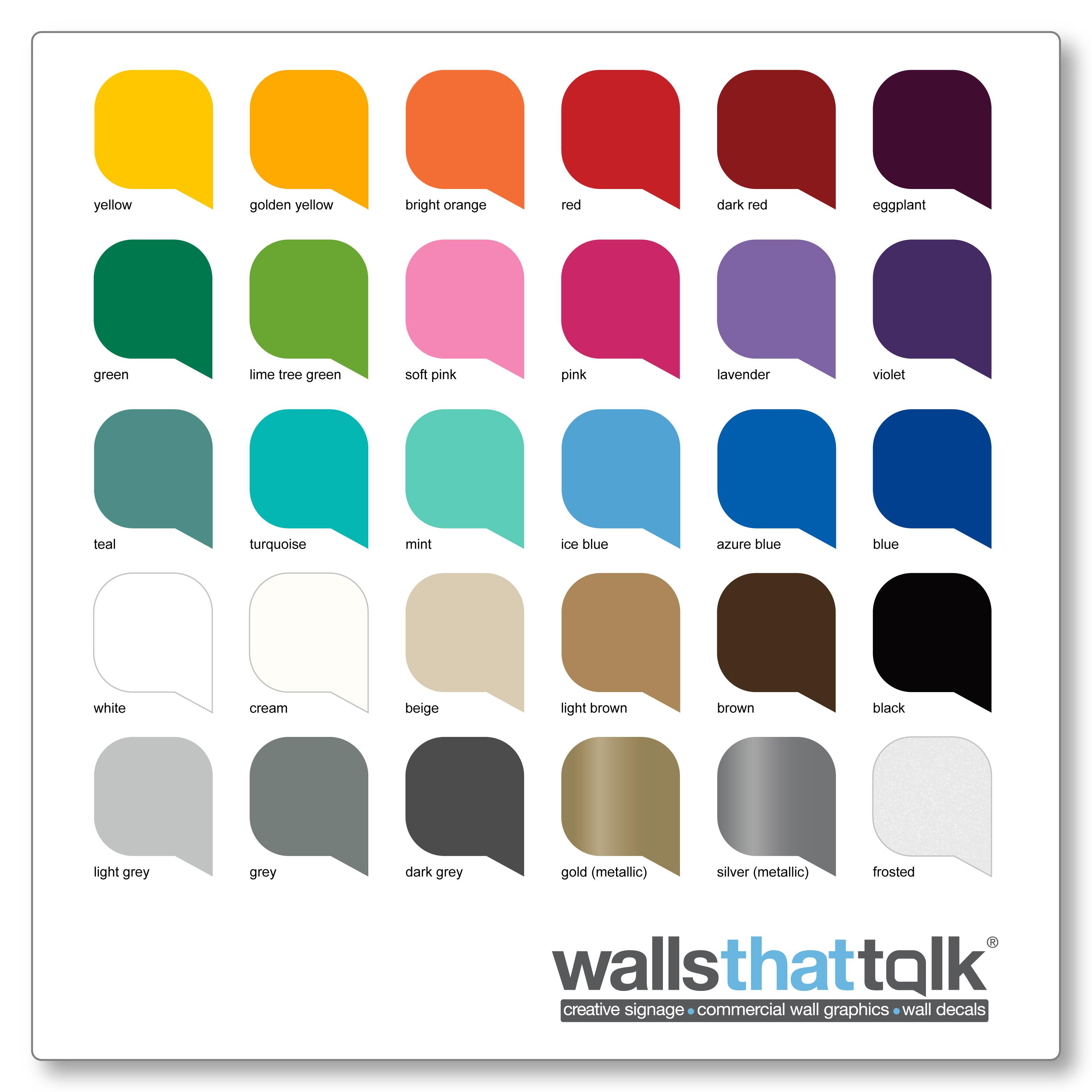 walldecal colour sample, WallsThatTalk